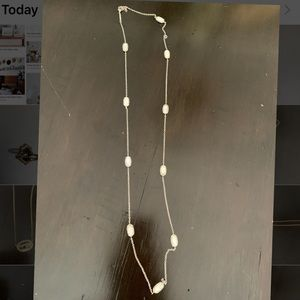 Silver and pearl white Kendra Scott necklace